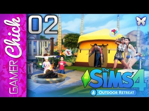 ❋ The Sims 4: Outdoor Retreat - Gameplay/Lets Play [Part 2 Bugs & Stuff] (PC) w/ GamerChick