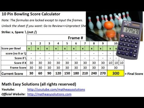 10 Pin Bowling Calculator - Free Download!