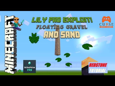 Minecraft PS4 - Lily Pad Exploit Floating Gravel & Sand - Tutorial -  PS3 / XBOX ) TU30 Episode: 380
