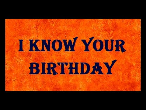 I KNOW YOUR BIRTHDAY | Maths Magic Trick