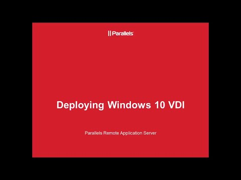 How to Setup VDI Guests in Parallels RAS