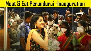 Pavithra lakshmi cook with comali cute moments @ Meat and Eat Restaurant Food Vlog,Perundurai Erode