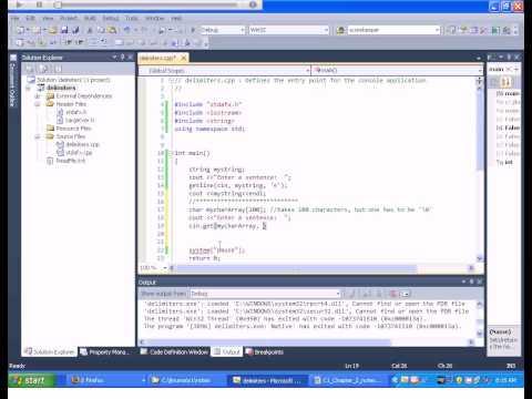 C++ Tutorial - Delimiters