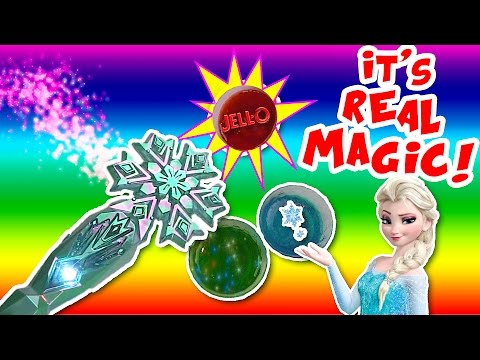 FROZEN Elsa MAGIC Gummy Jello Tricks and DIY Crafts for HALLOWEEN Unboxing