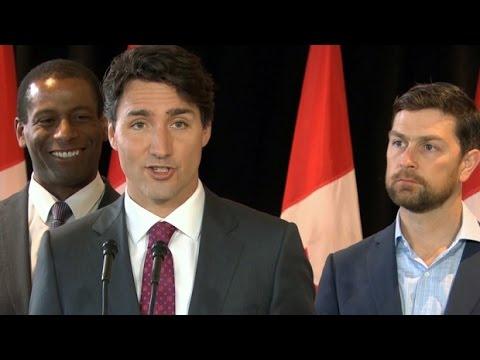 Trudeau pitches Child Benefit money