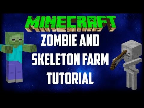 Minecraft Simple Zombie Skeleton XP Farm Tutorial Xbox One Pc Ps4 Wii Pe