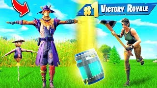 Hiding As A Scarecrow In Fortnite Battle Royale!