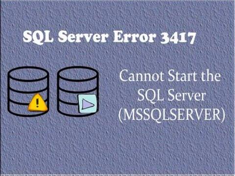 Know How to Solve SQL Server Error 3417