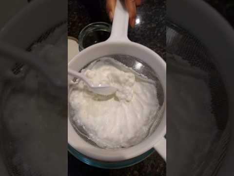 Milk kefir grains separation
