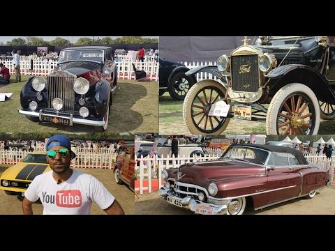 OMG !! Delhi Maharaja's Car | Amazing Vintage Car Show [Mustang,Rolls Royce,Bentley] 21 GUN SALUTE