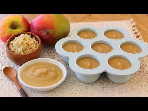 Mango Quinoa and Apple baby food recipe +6M