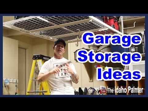 Installing A Garage Ceiling Rack.  Garage storage tips.