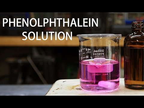 How to make a Phenolphthalein Indicator Solution (0.05%wt)