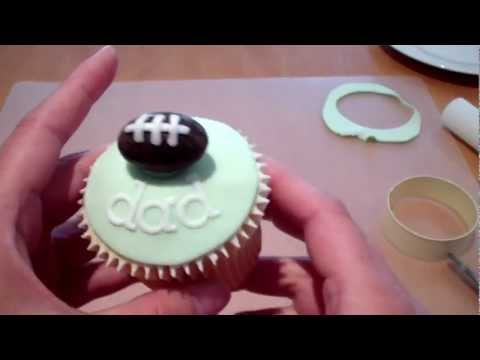 How to Make a Father's Day Cupcake - the Football
