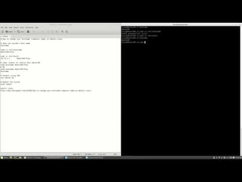 Change hostname (computer name) on Ubuntu Server #32