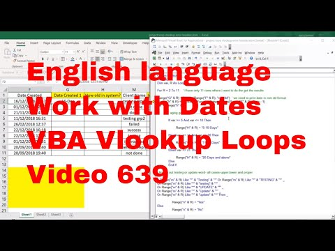 Work with Dates - Vlookup Loops in English- Video 739