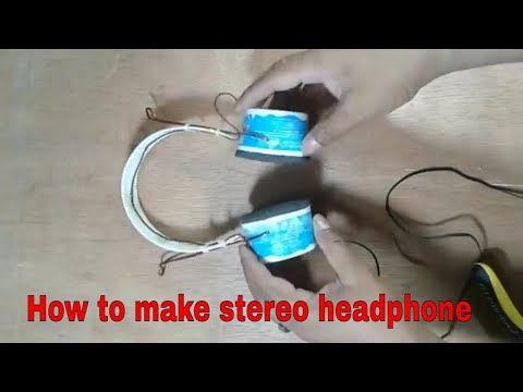 How to make a headphone from ice cream cup and old mobile speaker   Simple headphone