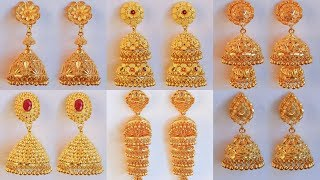 d5a81b2f3 Latest GRT Jewellers Different Type Of Gold jhumkas designs