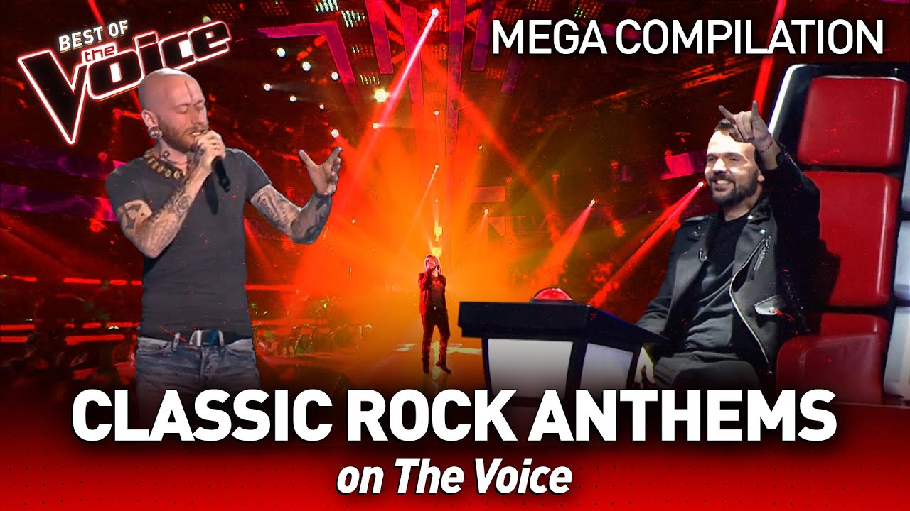 Classic ROCK ANTHEMS 🤘 on The Voice   Mega Compilation