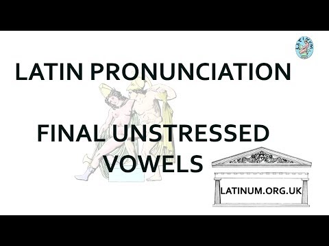Unstressed final long vowels in Latin and tricks our English ear plays on us.