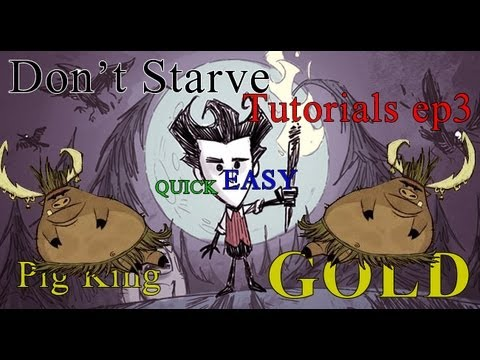 MrMinikk's: Don't Starve Tutorials ep3 - Pig King, Quick and Easy GOLD tutorial!