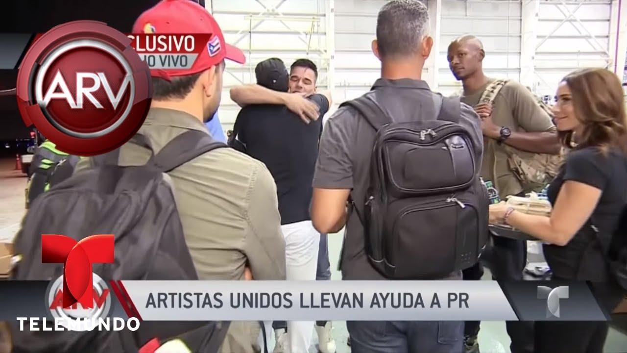Emocionante llegada de famosos para ayudar a Puerto Rico   Al Rojo Vivo   Telemundo