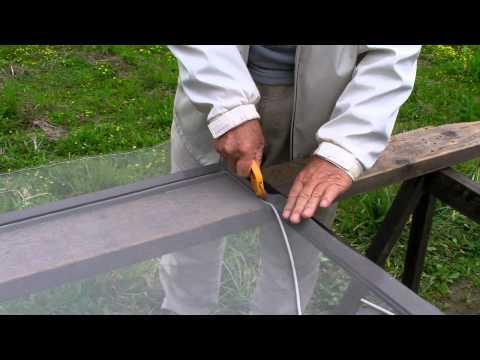 How to change a Windows Screen Mosquito Netting (Amido) Net Window: do it yourself