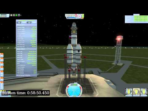 Kerbal Space Program, Gstreamer and Ubuntu on YouTube Live