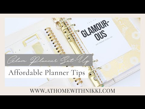PLANNER TIPS 2018 | HOW TO CREATE A GLAM PLANNER ON A BUDGET