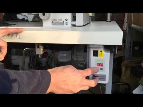 Demonstrating how easy it is to use a Jack Energy Efficient Servo Motor on Industrial Sewing Machine