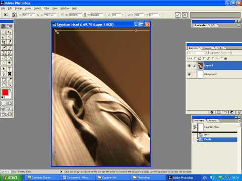 Part 5 - Transforming a layer in Photoshop