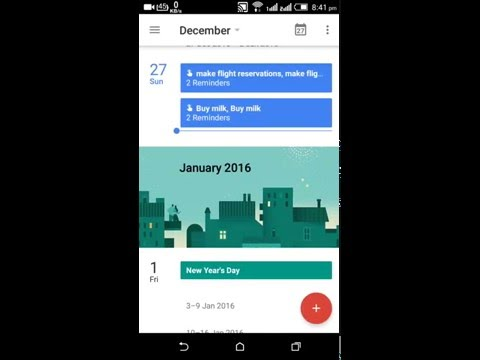 How to create reminders in google calendar with app