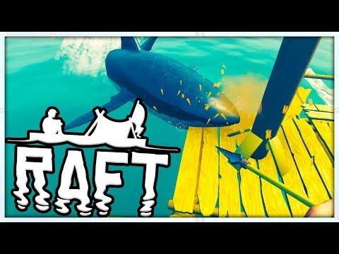 SHARK SURVIVAL SIMULATOR - MINECRAFT MEETS ARK - RAFT SURVIVAL