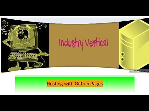 Hosting with Github Pages
