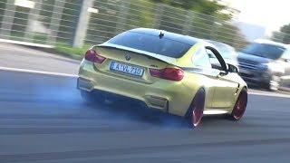Tuned Cars Leaving Car Meet - Accelerations, Launch Controls & Burnouts!
