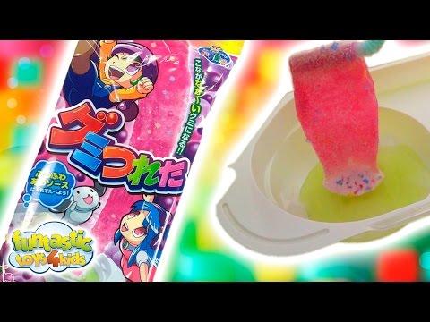 Funny & Delicious Popin Cookin DIY Gumi Tsureta Opening Gummy Bear Candy Japanese Candies