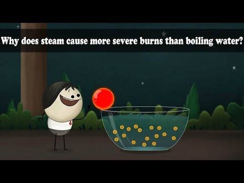 Why does steam cause more severe burns than boiling water?| It's AumSum Time
