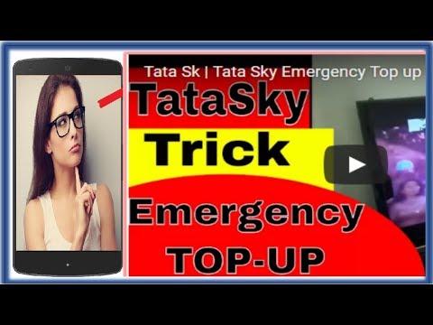 Tata sky tricks   Tata Sky Emergency Top up Hindi Trick   How to do TataSky Emergency Topup