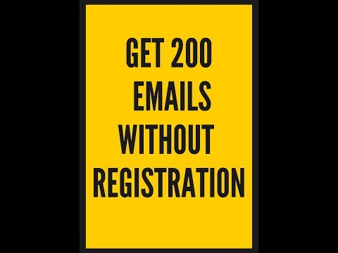 Get 200 Emails Without Registration In One Click (urdu)