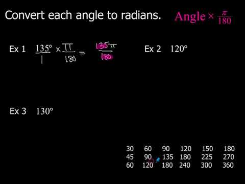 5-2 How to Convert Angles From Degrees to Radians