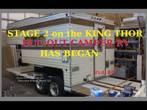 The KING THOR Bug Out hybrid camper RV build, Build Stage 2