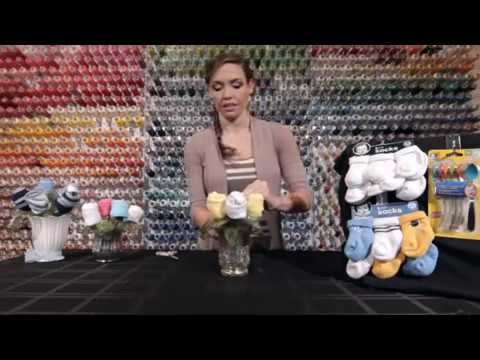 DIY Baby Shower Gift: Sock Bouquet