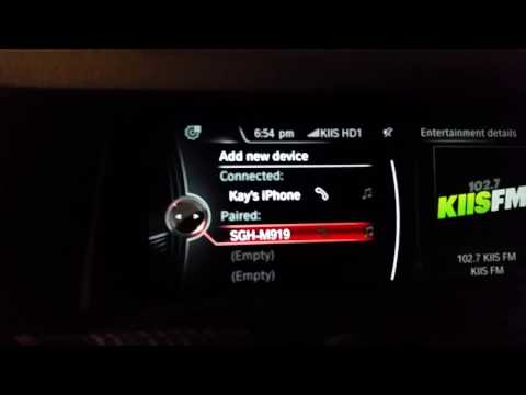 How to Delete Bluetooth Enable Phone from BMW