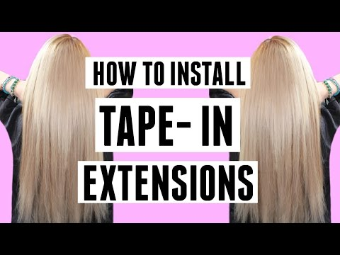 Installing BOMBAY HAIR TAPE-IN EXTENSIONS from start to finish!