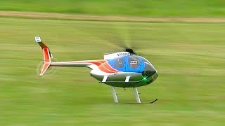 BRUTAL RC HELICOPTER CRASH !!! HUGHES 500 TURBINE MODEL HELICOPTER FATAL END TOTAL DESTROYED WOW !!!