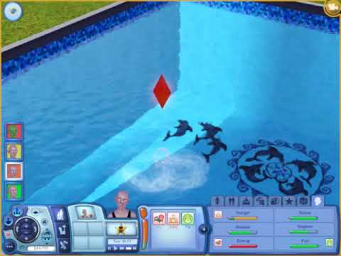 Sims 3 - trying to drown a ghost