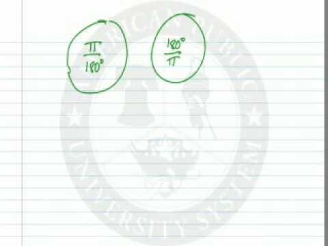 Convert Degrees to Radians Versa Using a Formula