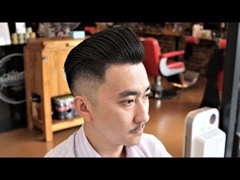 Stiff Asian Hair Zero Fade Pompadour Hair Cut - How To Do A Basic Men's Hair Cut