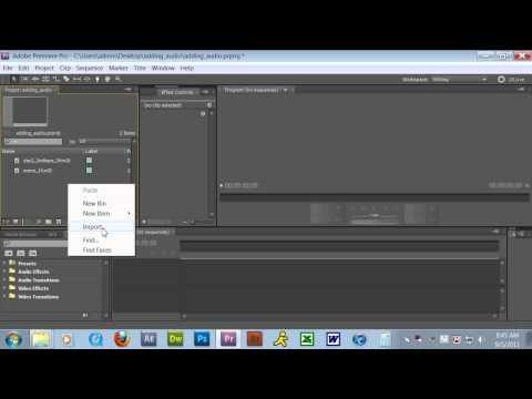 Adding Music in Adobe Premiere Pro CS5