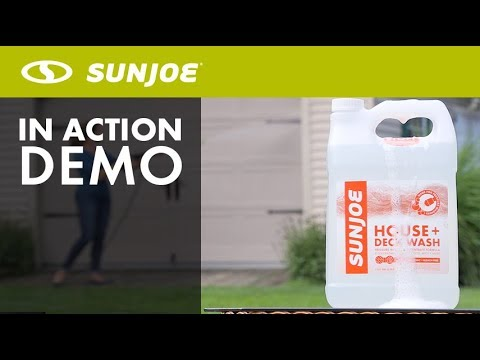 SPX HDC1G - Sun Joe House + Deck All-Purpose Pressure Washer Rated Concentrated Cleaner - Live Demo